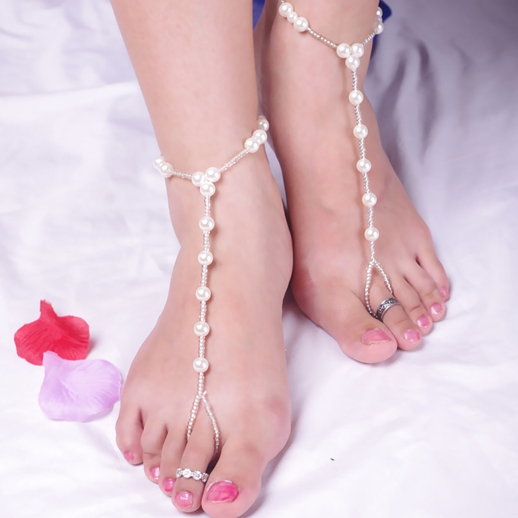 44 Toe Ankle Bracelet, Toe And Ankle Bracelet In One Gems Of Throughout Latest Ankle Bracelet Toe Rings (View 14 of 25)
