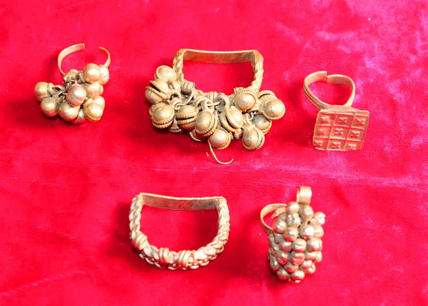 5 Antique Copper Bells Cluster Toe Ring Indian Ethnic Bellydance Within Most Recent Ethnic Toe Rings (Gallery 3 of 15)