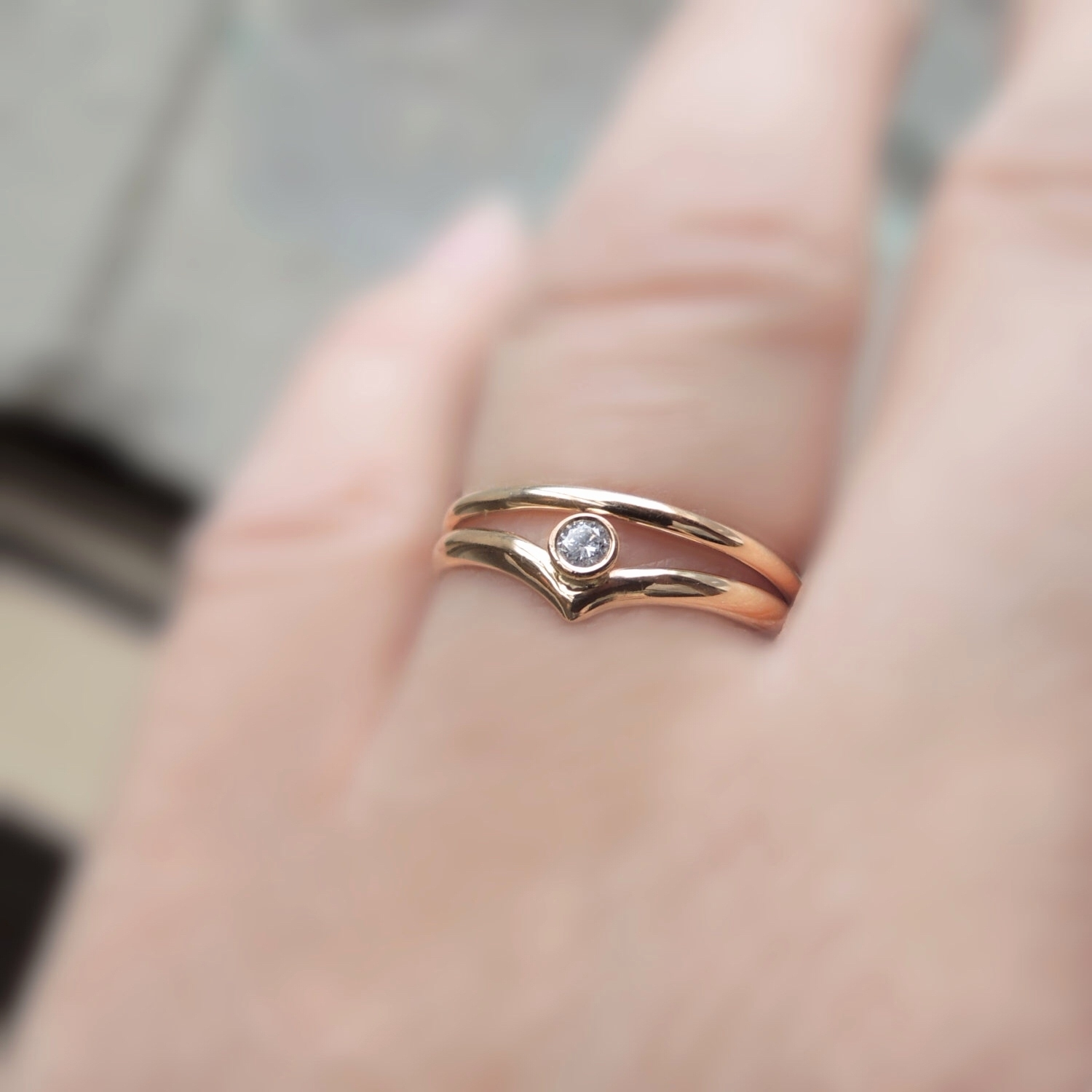 15 Best Ideas of Chevron Wedding Rings