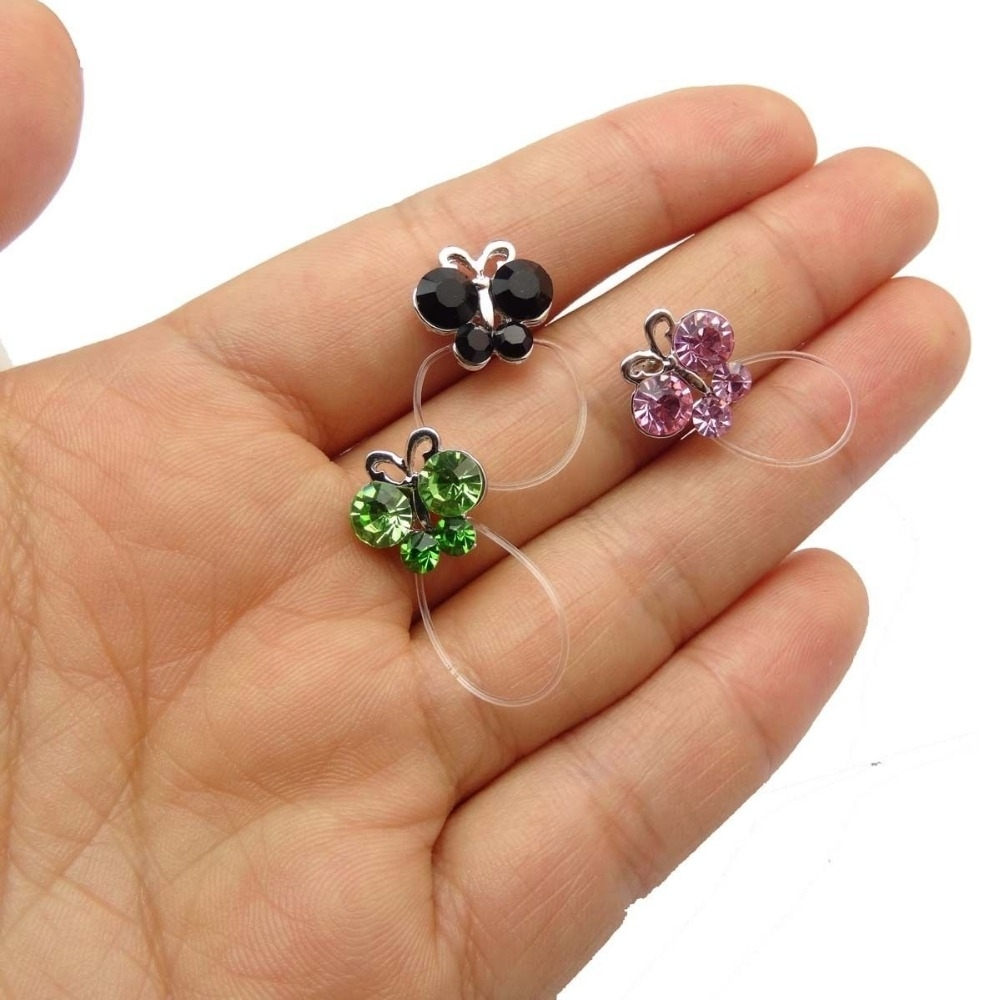 6 Pieces Elastic String Adjustable Invisible Crystal Toe Rings Throughout Most Recent Butterfly Toe Rings (View 2 of 15)