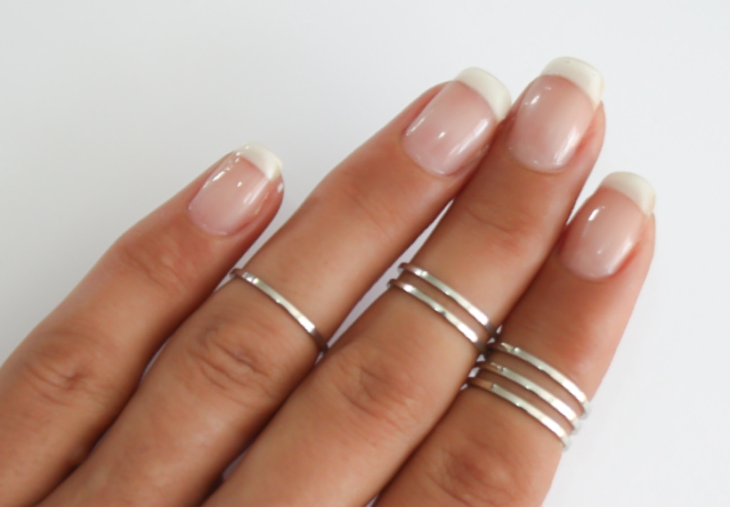 8 Above The Knuckle Rings Sterling Silver Stacking Rings Pertaining To Newest Chevron Midi Rings Sets (View 3 of 15)