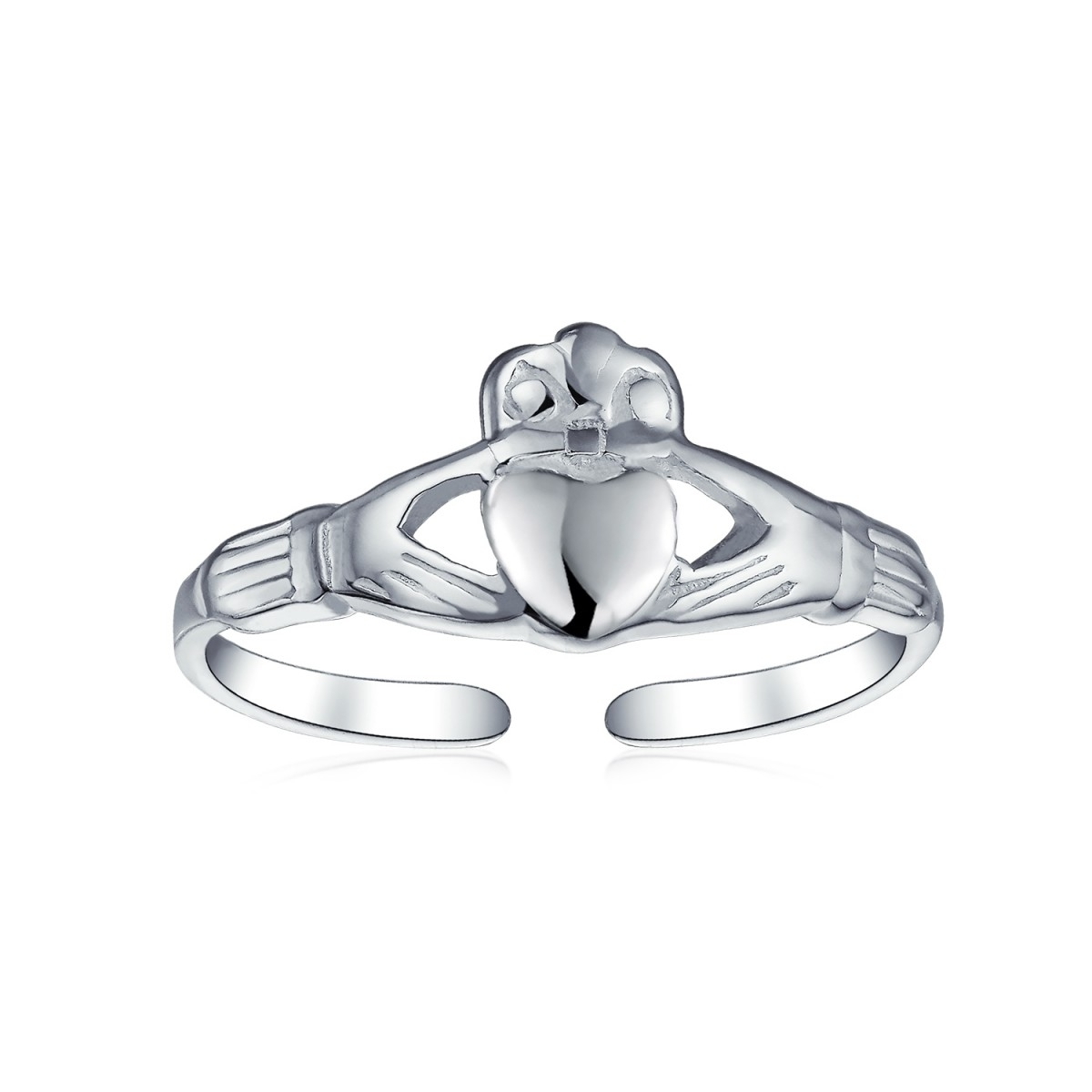 925 Silver Celtic Midi Ring Adjustable Claddagh Heart Toe Rings For Current Claddagh Toe Rings (Gallery 8 of 15)