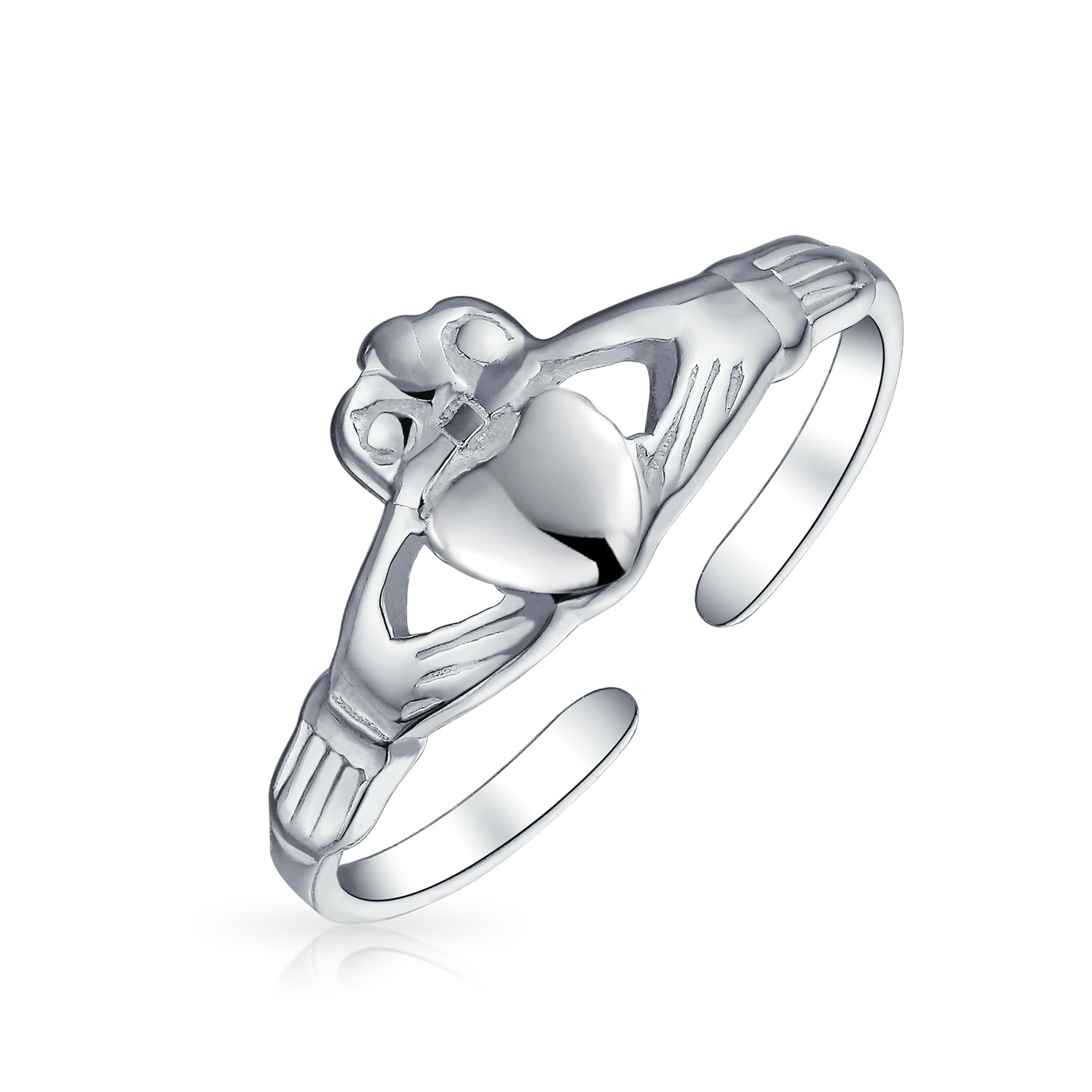 925 Silver Celtic Midi Ring Adjustable Claddagh Heart Toe Rings With Regard To Recent Diamond Toe Rings (Gallery 6 of 15)