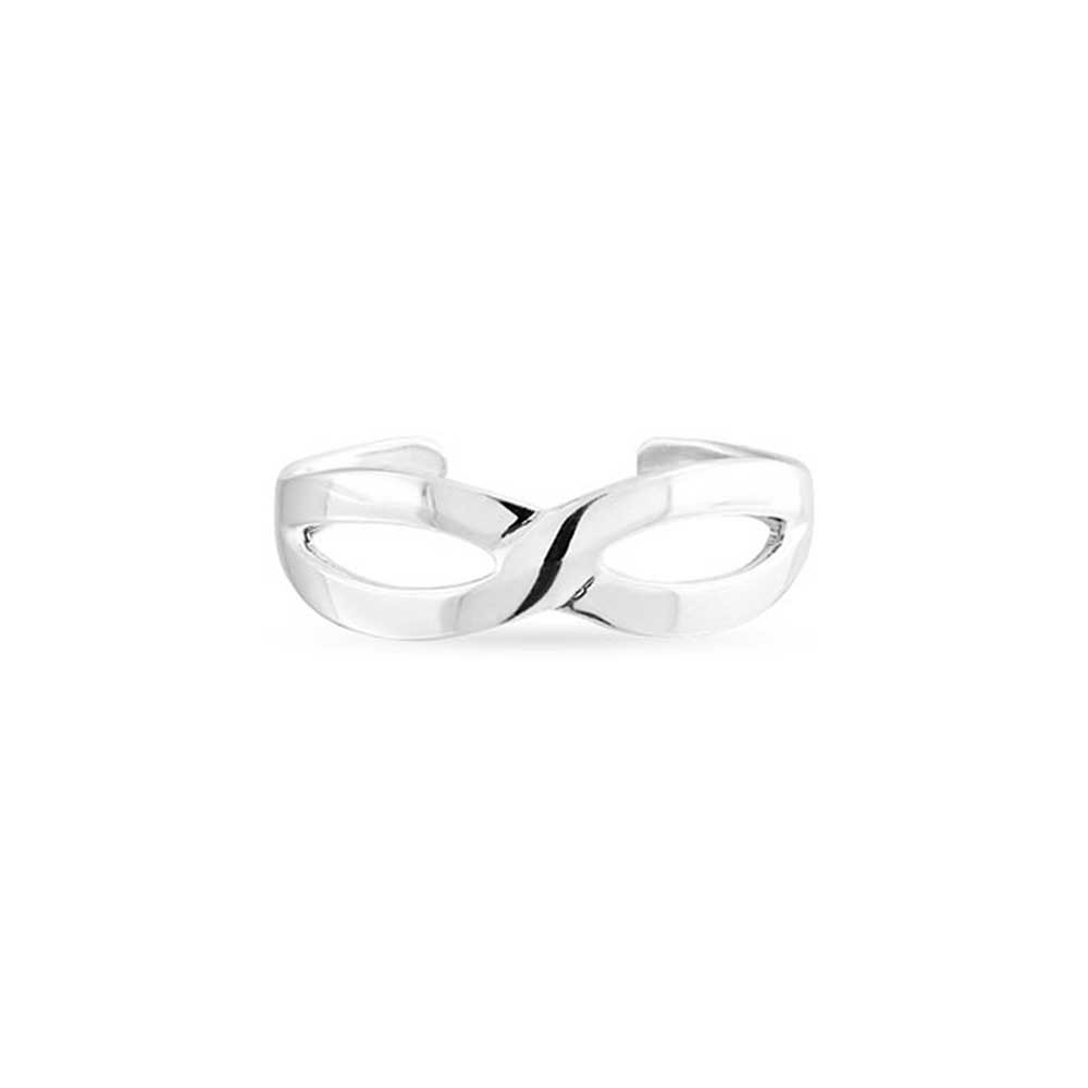 925 Silver Infinity Band Toe Ring Figure 8 Midi Rings Adjustable Intended For Best And Newest Infinity Toe Rings (Gallery 1 of 15)