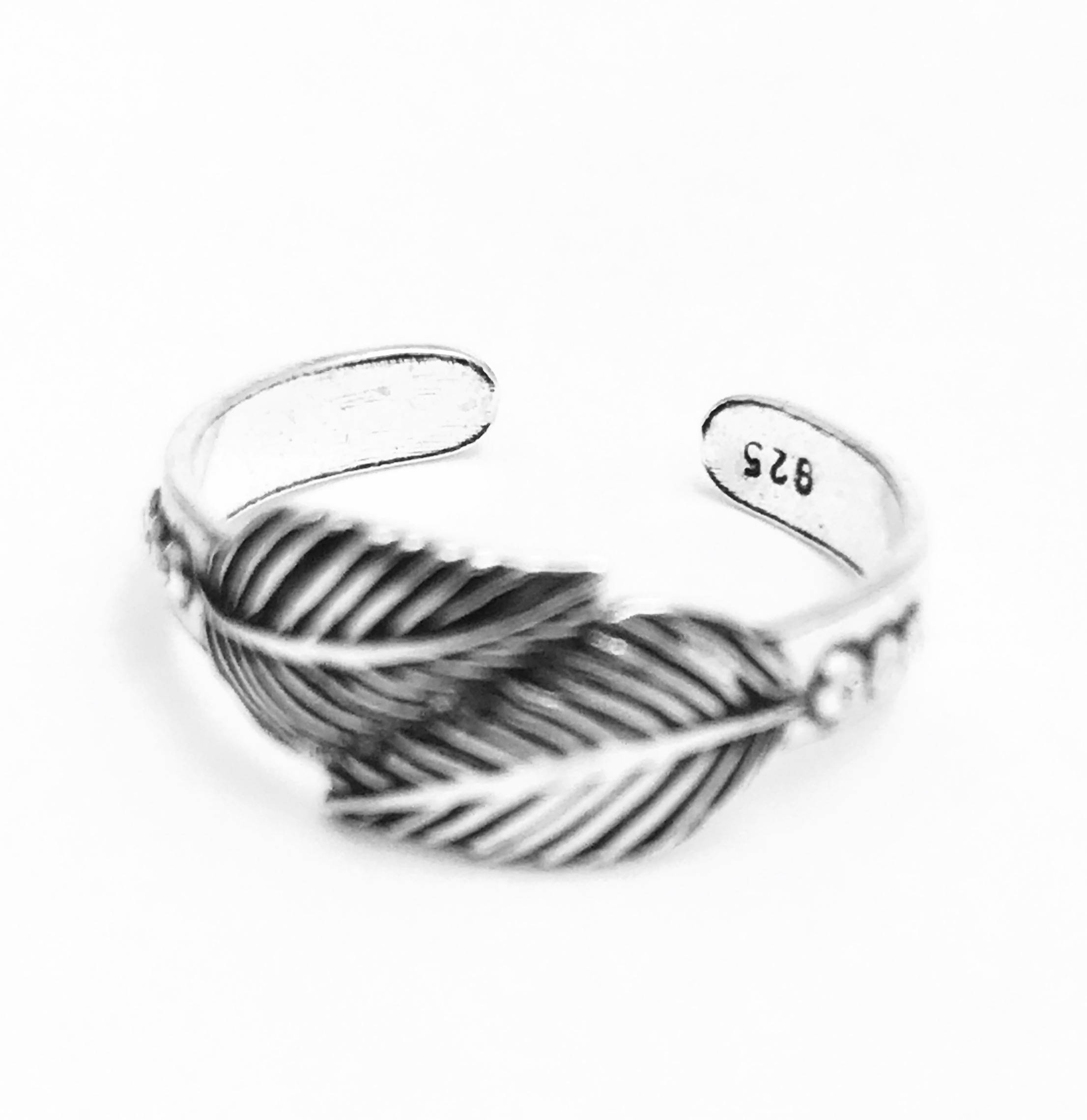 925 Solid Sterling Silver Toe Rings Celtic,daisy And Feather Pertaining To 2018 Feather Toe Rings (View 4 of 15)