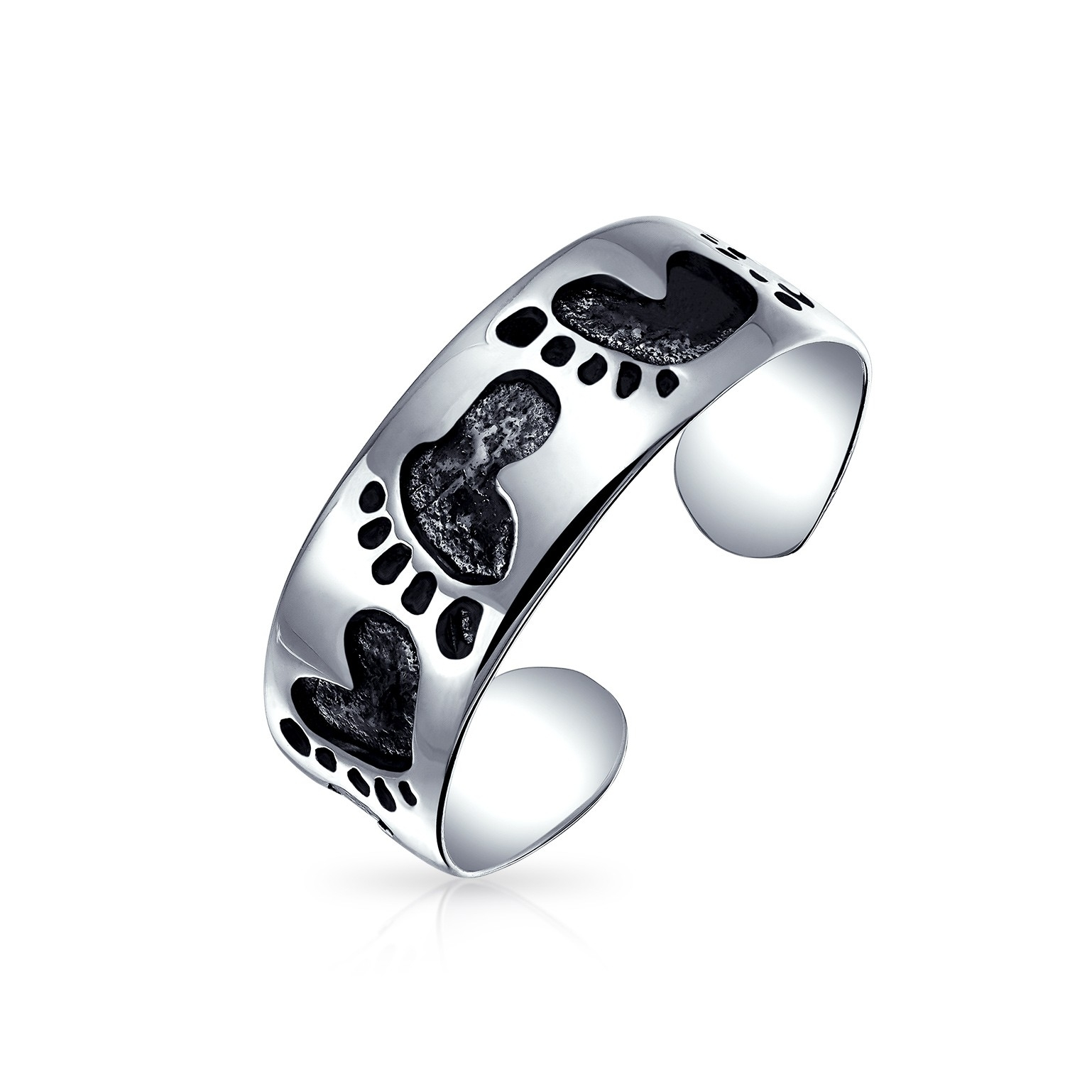 925 Sterling Silver Lucky Elephant Toe Ring Adjustable Midi Ring Pertaining To Newest Elephant Toe Rings (View 4 of 15)
