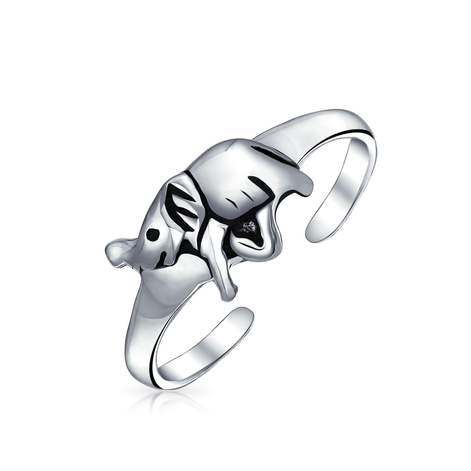 925 Sterling Silver Lucky Elephant Toe Ring Adjustable Midi Ring With Most Recently Released Elephant Toe Rings (View 5 of 15)