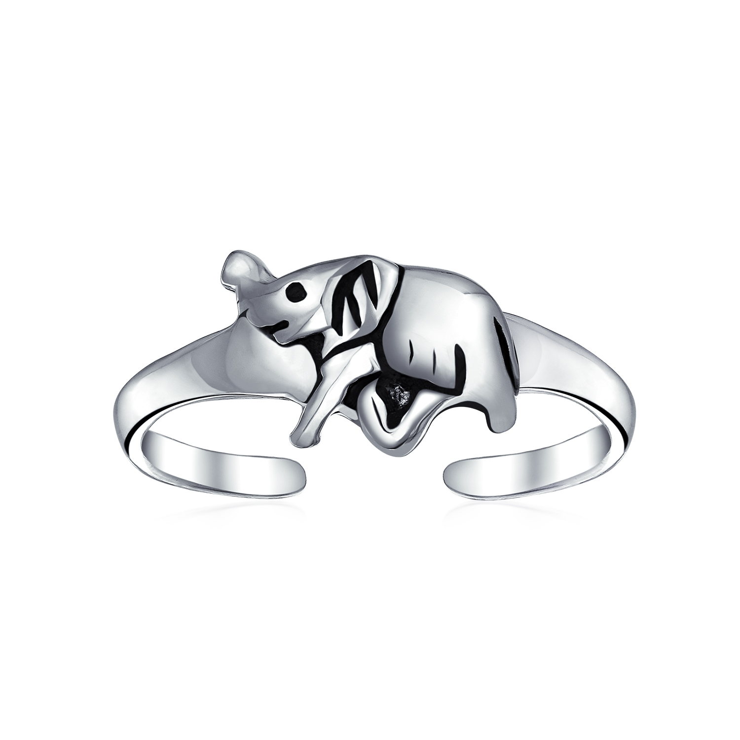 925 Sterling Silver Lucky Elephant Toe Ring Adjustable Midi Ring Within Current Elephant Toe Rings (Gallery 7 of 15)