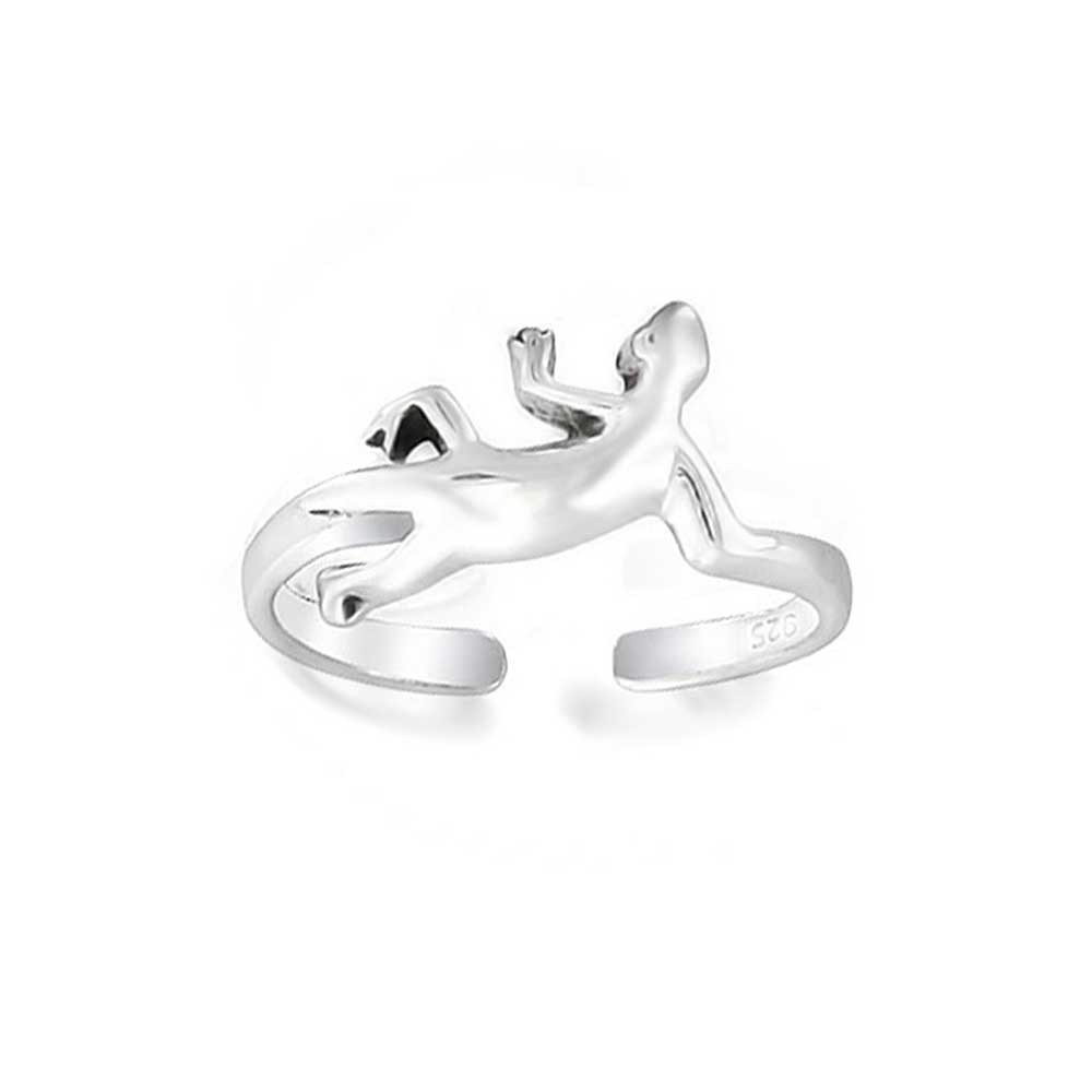 925 Sterling Silver Midi Ring Reptile Lizard Adjustable Toe Rings Within Best And Newest Sterling Toe Rings (View 1 of 15)
