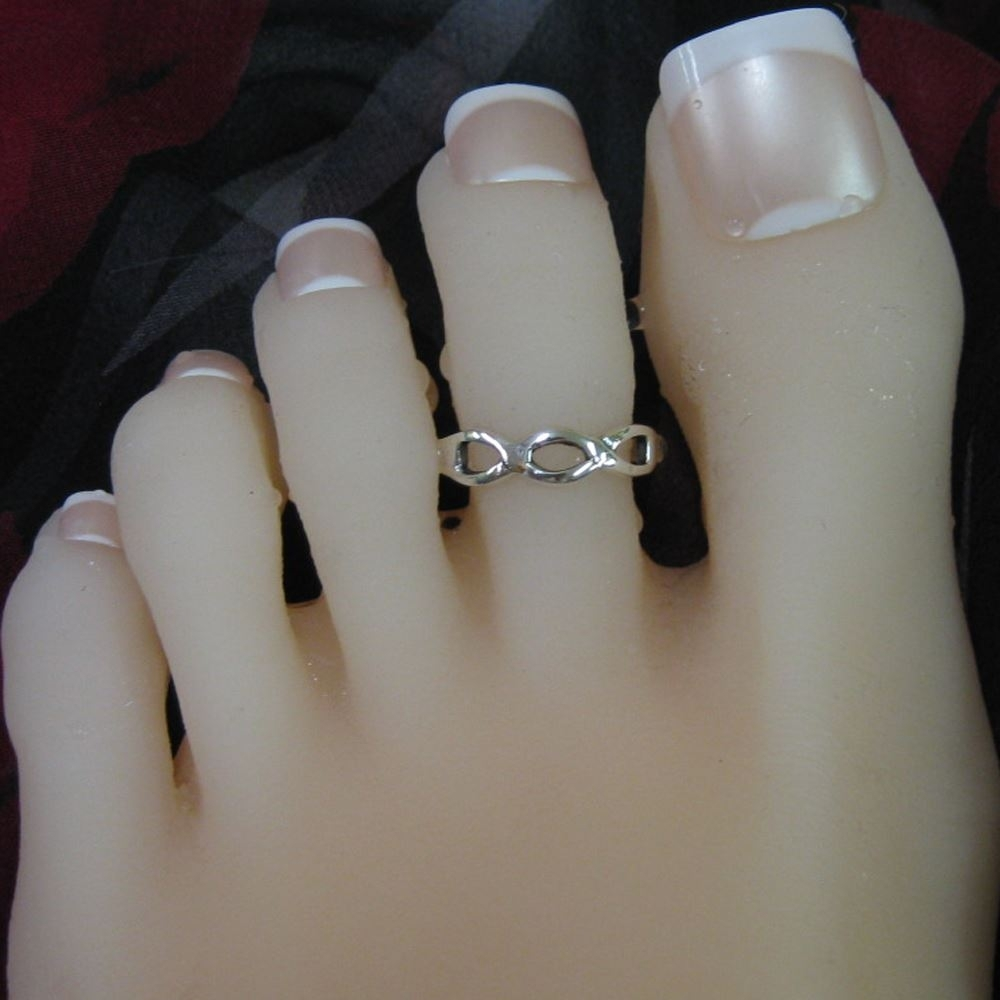 925 Sterling Silver Toe Ring  Infinity Ring Adjustable Infinity Inside 2018 Infinity Toe Rings (Gallery 6 of 15)