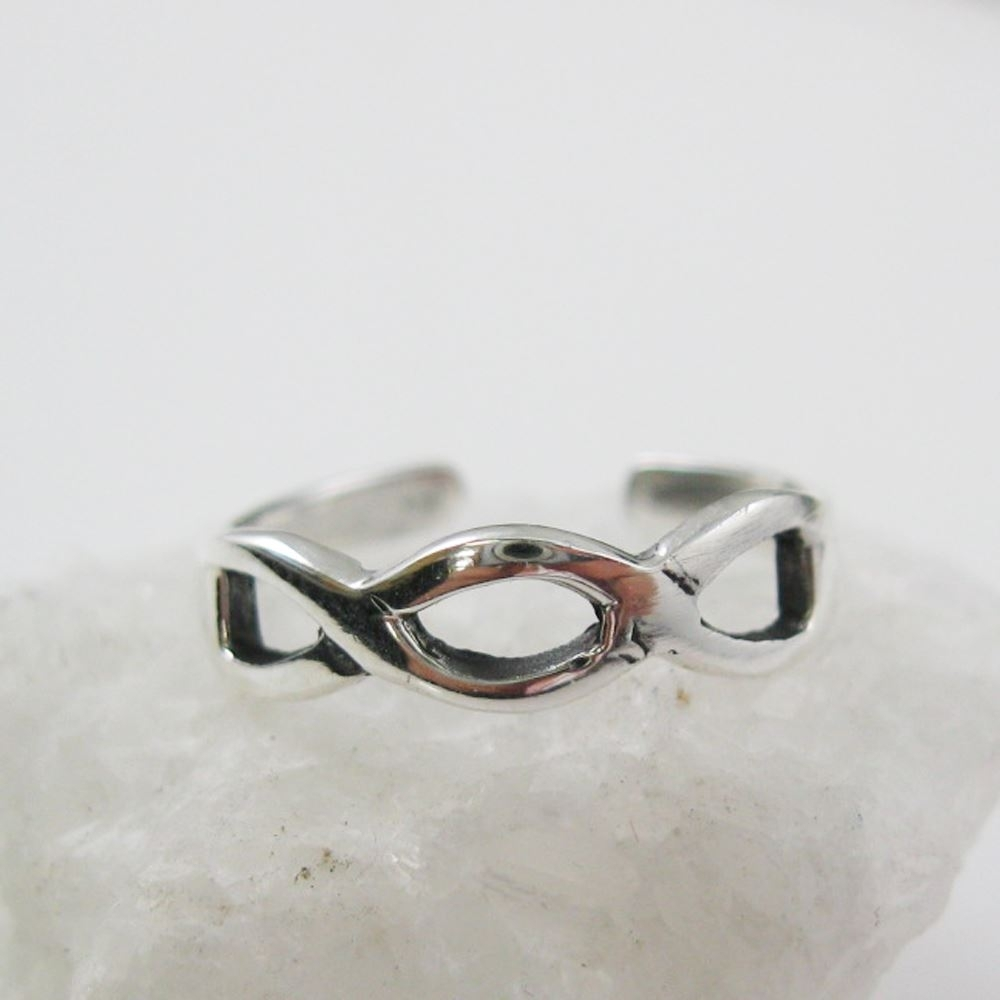 925 Sterling Silver Toe Ring  Infinity Ring Adjustable Infinity Intended For Newest Infinity Toe Rings (Gallery 9 of 15)