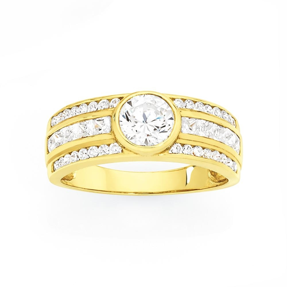 9Ct Gold Cz Wide Bezel Ring – Goldmark Au Catalogue – Salefinder Regarding Most Recent Goldmark Toe Rings (Gallery 1 of 15)