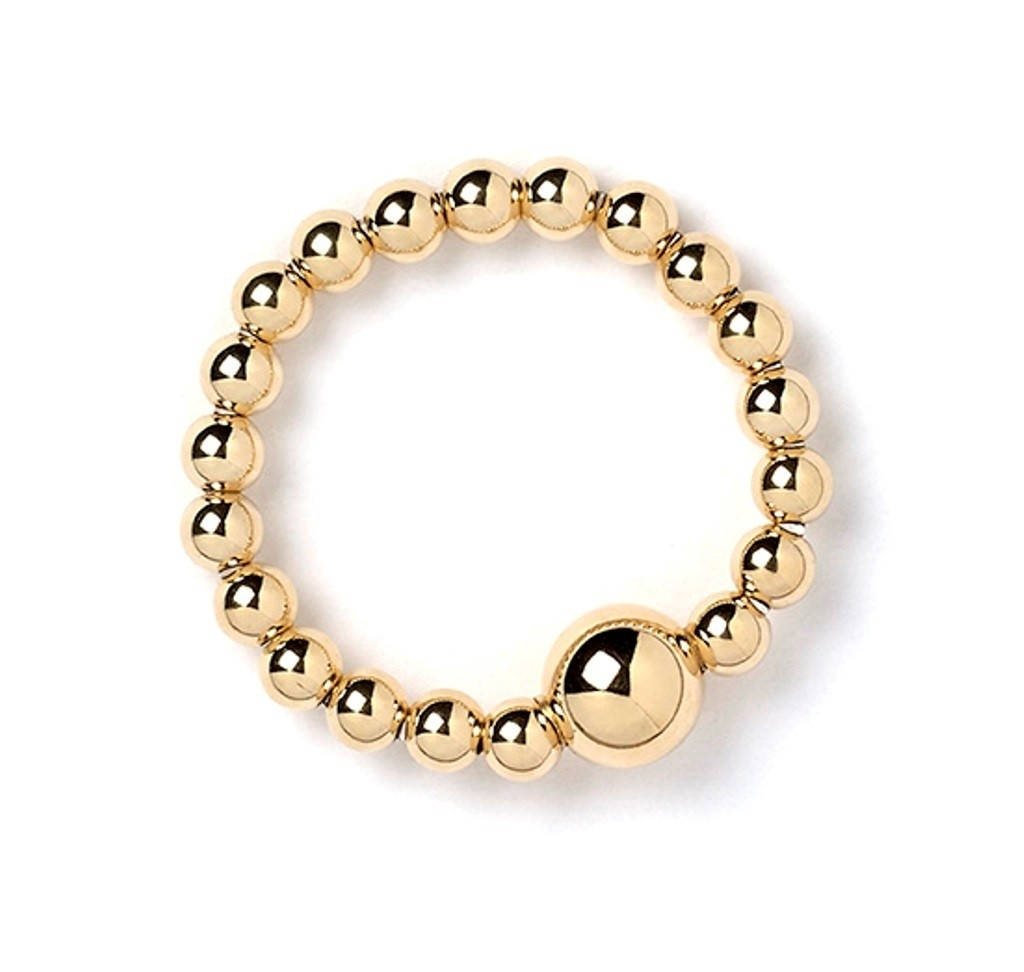 9Ct Gold Rice & Noodle Ball Bead Ring | The Carat Shop Pertaining To Most Recently Released Ardene Toe Rings (View 14 of 21)