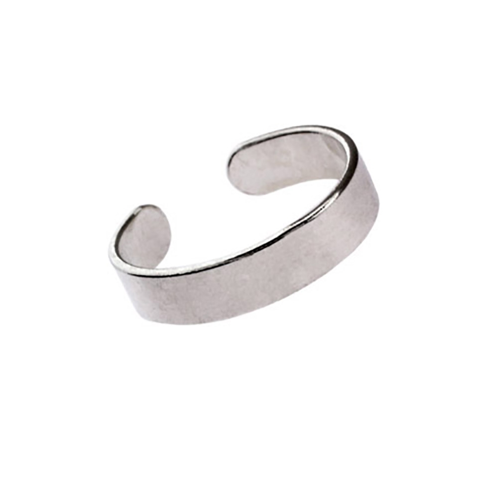 Band Sterling Silver Toe Ring | Eve's Addiction® Within 2017 Sterling Silver Toe Rings (View 8 of 15)