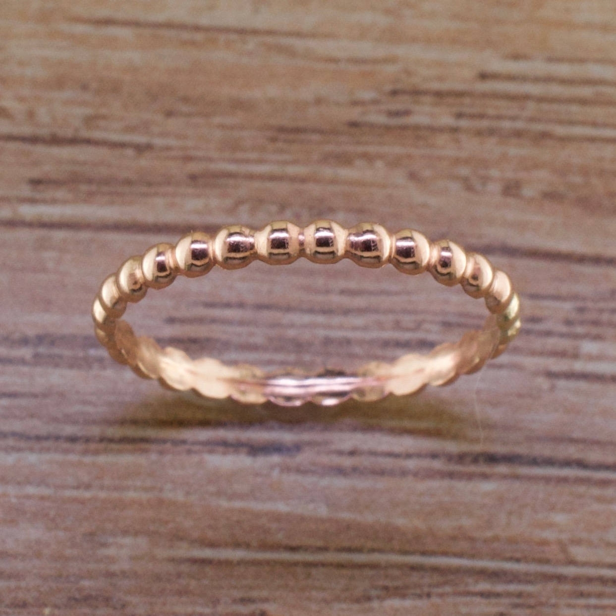 Bead Toe Ring Rose Gold Sized Fitted Toe Rings Midi Rings Within Latest Sterling Silver Fitted Toe Rings (View 2 of 15)