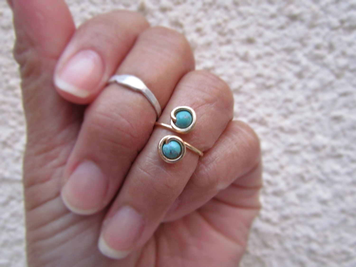 Beaded Above Knuckle Ring (View 2 of 15)
