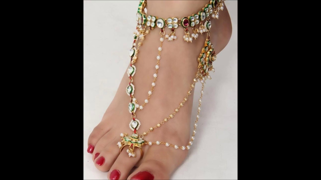 Beautiful Anklets Toe Rings – Youtube For Most Up To Date Anklets With Toe Rings (Gallery 3 of 16)