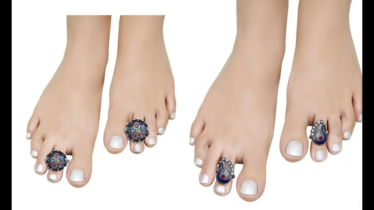 Beautiful Toe Ring Designs/ Designer Toe Rings/toe Ring Designs In Regarding Current Toe Rings By Melissa (View 2 of 15)