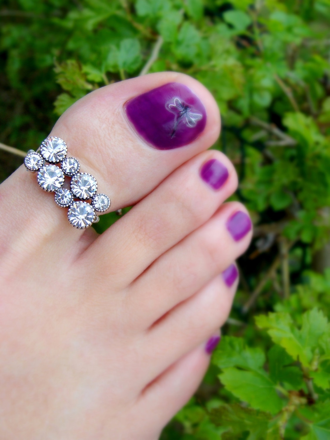 Beautiful Toes Rings | Pazeb & Slippers | Pinterest | Toe Rings Intended For Most Recent Diamond Toe Rings (View 2 of 15)