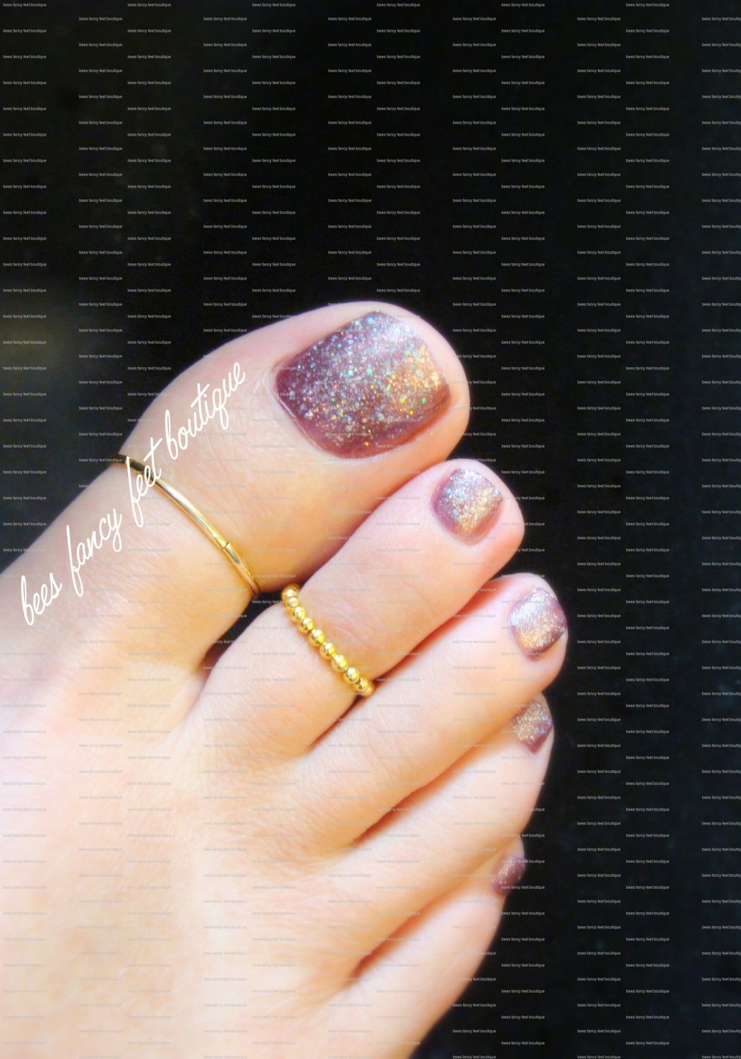 Big Toe Ring Combo Gold Stretch Bead Toe Rings With Latest Big Toe Rings (Gallery 5 of 15)