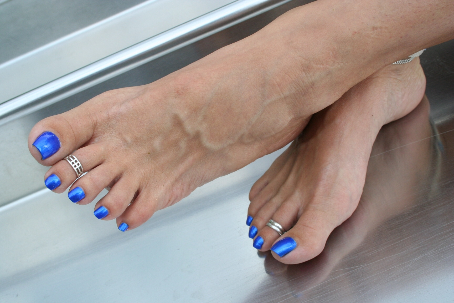 Blue Toes & Toe Rings | Barbiefootgurl | Pinterest | Blue Toes In Latest Illusion Toe Rings (View 7 of 15)