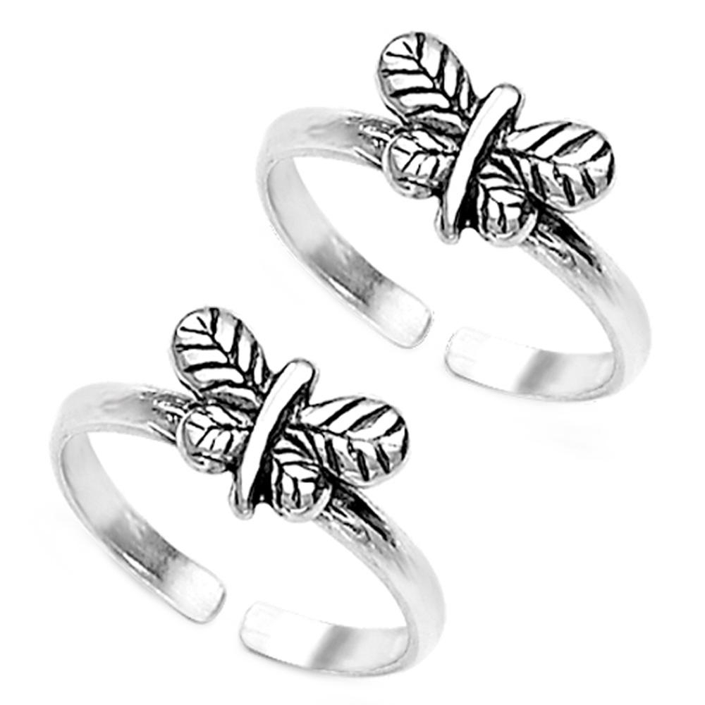 Butterfly Sterling Silver Toe Ringstaraash | Toe Rings Intended For Newest Butterfly Toe Rings (View 8 of 15)