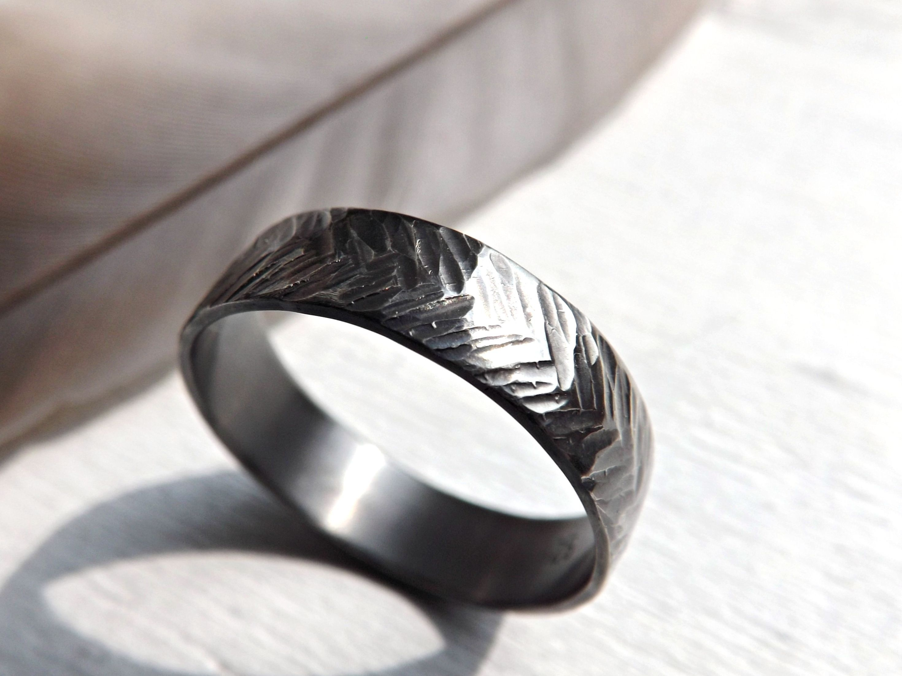 Buy A Handmade Chevron Wedding Ring Silver, Sterling Silver Ring Within Most Current Chevron Signet Rings (View 2 of 15)
