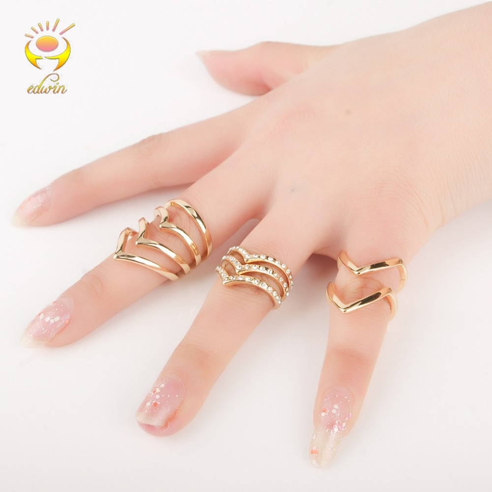 Buy Knuckle Ring Set Chevron And Get Free Shipping On Aliexpress For Recent Chevron Knuckle Rings (View 7 of 15)