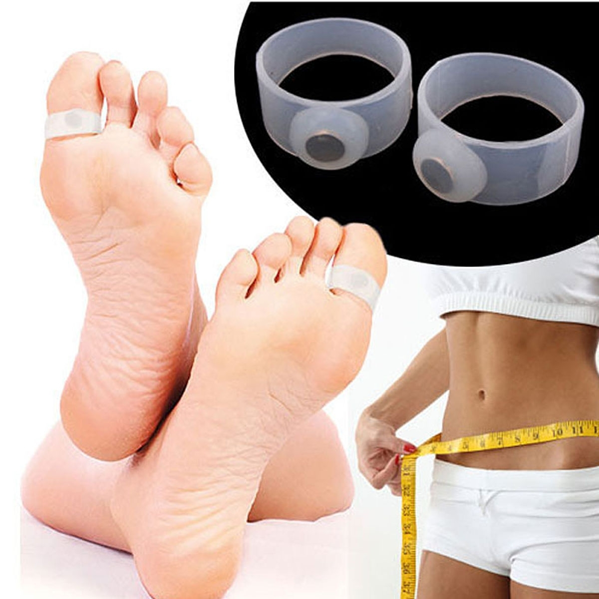 Buy Slimming Magnetic Toe Ring Foot Massage Fat Weight Loss Health With Regard To Latest Magnetic Toe Rings (Gallery 13 of 15)