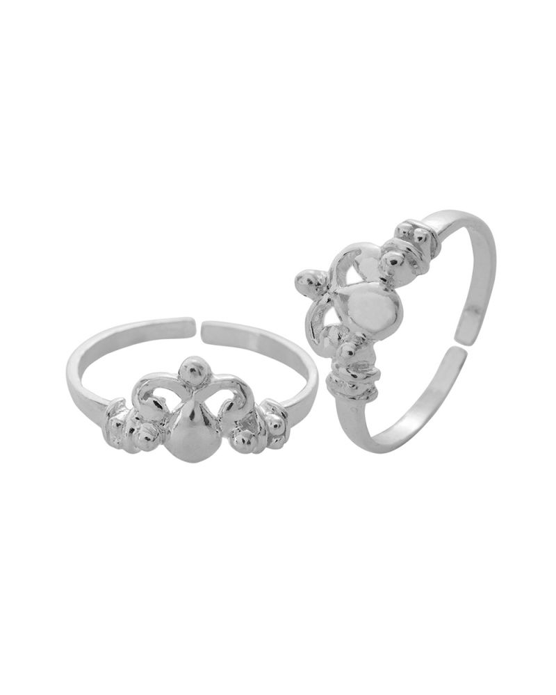 Buy Voylla Fashionable 925 Sterling Silver Toe Ring Pair Inside Best And Newest Voylla Toe Rings (View 5 of 15)