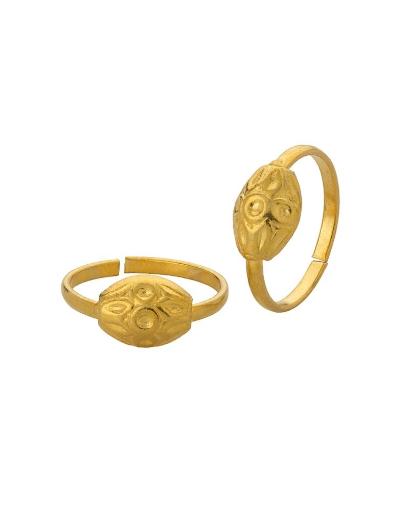 Buy Voylla Gold Plated Toe Rings With Elliptical Shape, Flower In Most Recent Gold Plated Toe Rings (View 5 of 15)
