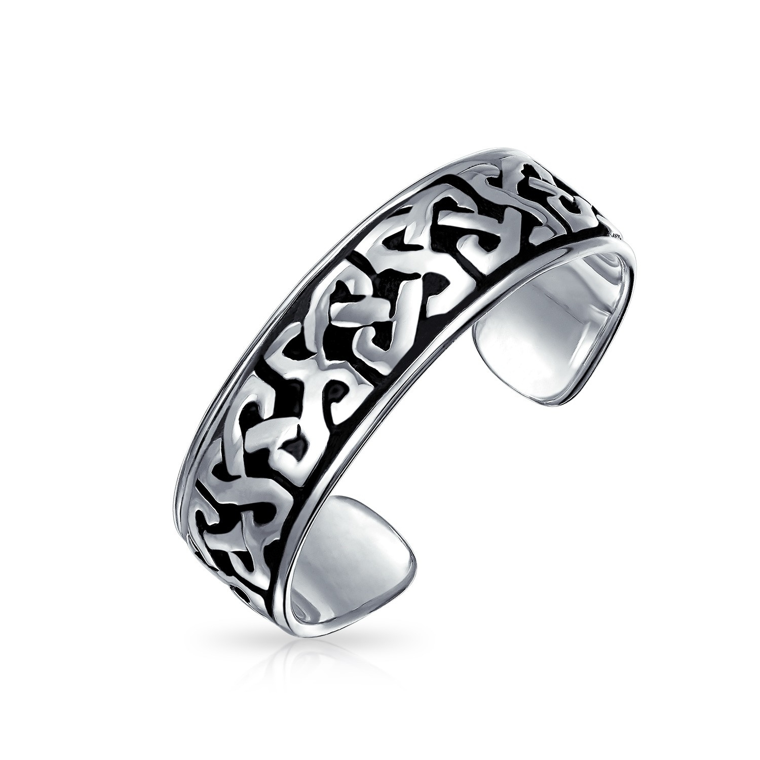 Celtic Knot Mid Finger Ring Sterling Silver Adjustable Toe Rings In Best And Newest Celtic Toe Rings (View 2 of 15)