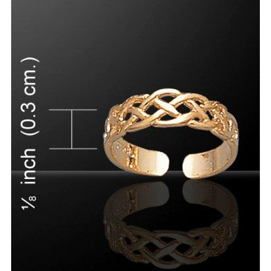 Celtic Knotwork Gold Vermeil Toe Ring | Adjustable Toe Rings Intended For Most Recent Celtic Toe Rings (View 6 of 15)
