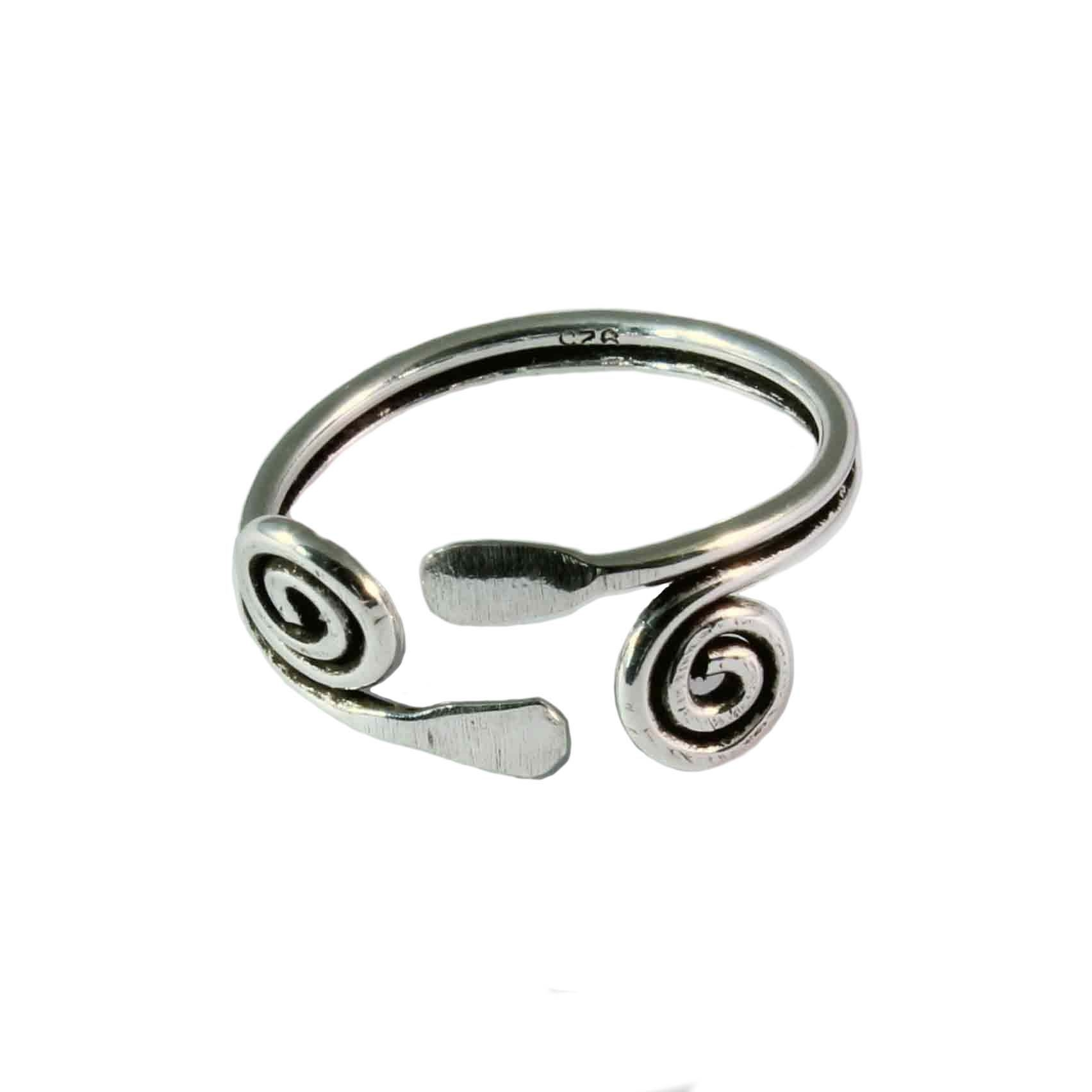 Charm School Uk > Silver Toe Rings > Double Swirl For Recent Double Toe Rings (View 11 of 15)