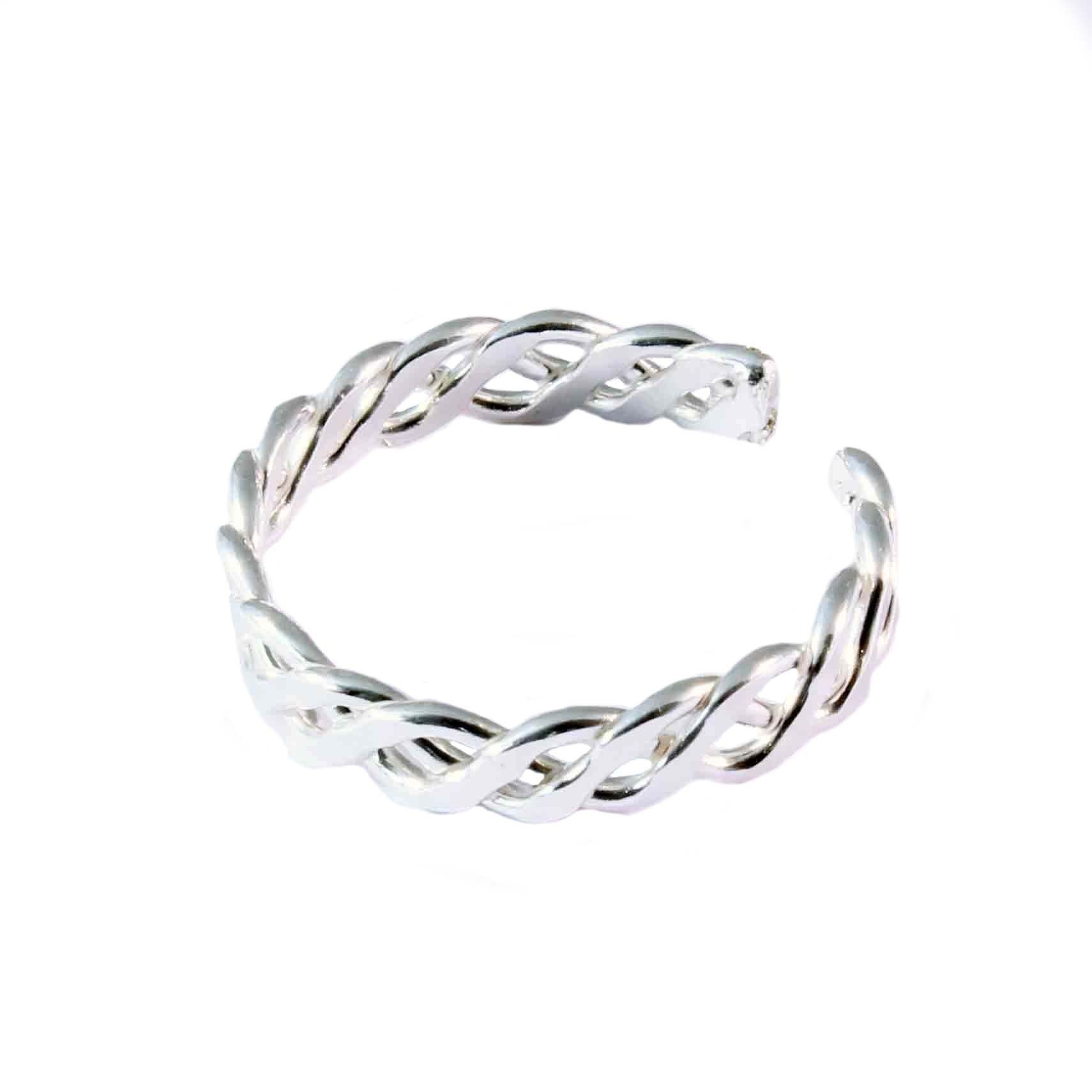 Charm School Uk > Sterling Silver Toe Rings > Braided Design Within Newest Silver Toe Rings (View 4 of 15)