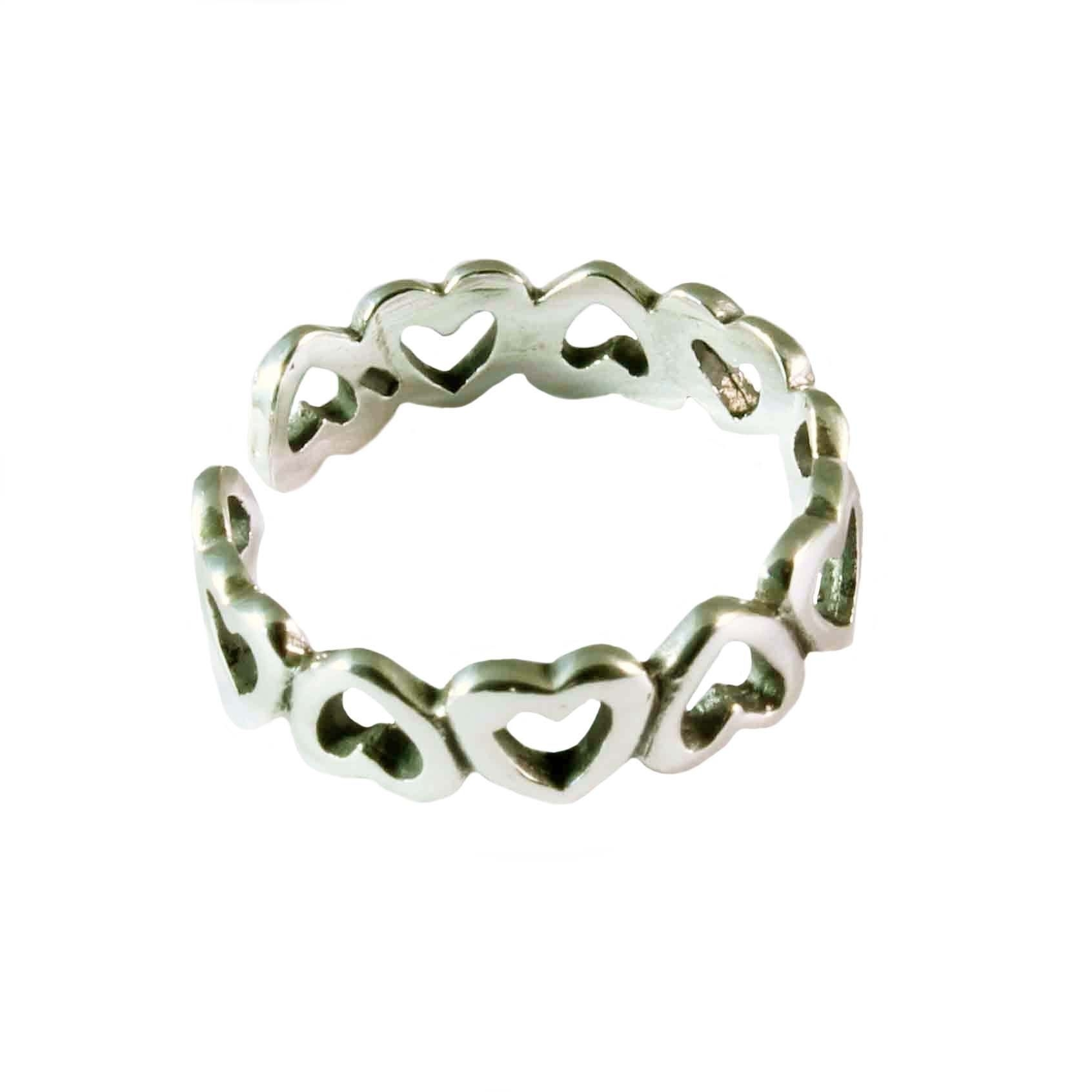 Charm School Uk > Sterling Silver Toe Rings > Multiple Hearts For Most Popular Heart Toe Rings (View 8 of 15)