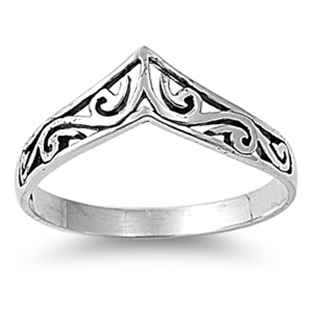 Chevron Thumb Ring New .925 Sterling Silver Celtic Band | Ebay Intended For Most Popular Silver Chevron Rings (Gallery 7 of 15)