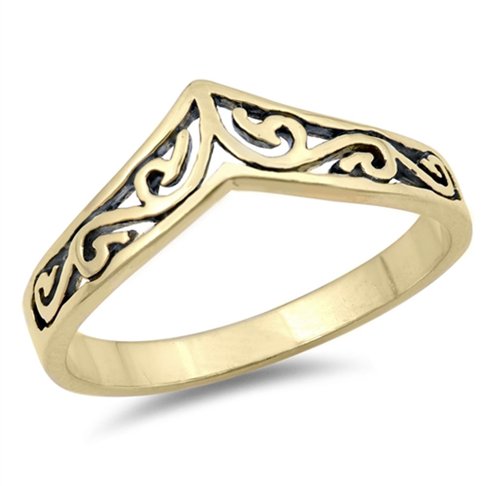 Chevron Thumb Ring New .925 Sterling Silver Celtic Band | Ebay Pertaining To Latest Chevron Thumb Rings (Gallery 1 of 15)