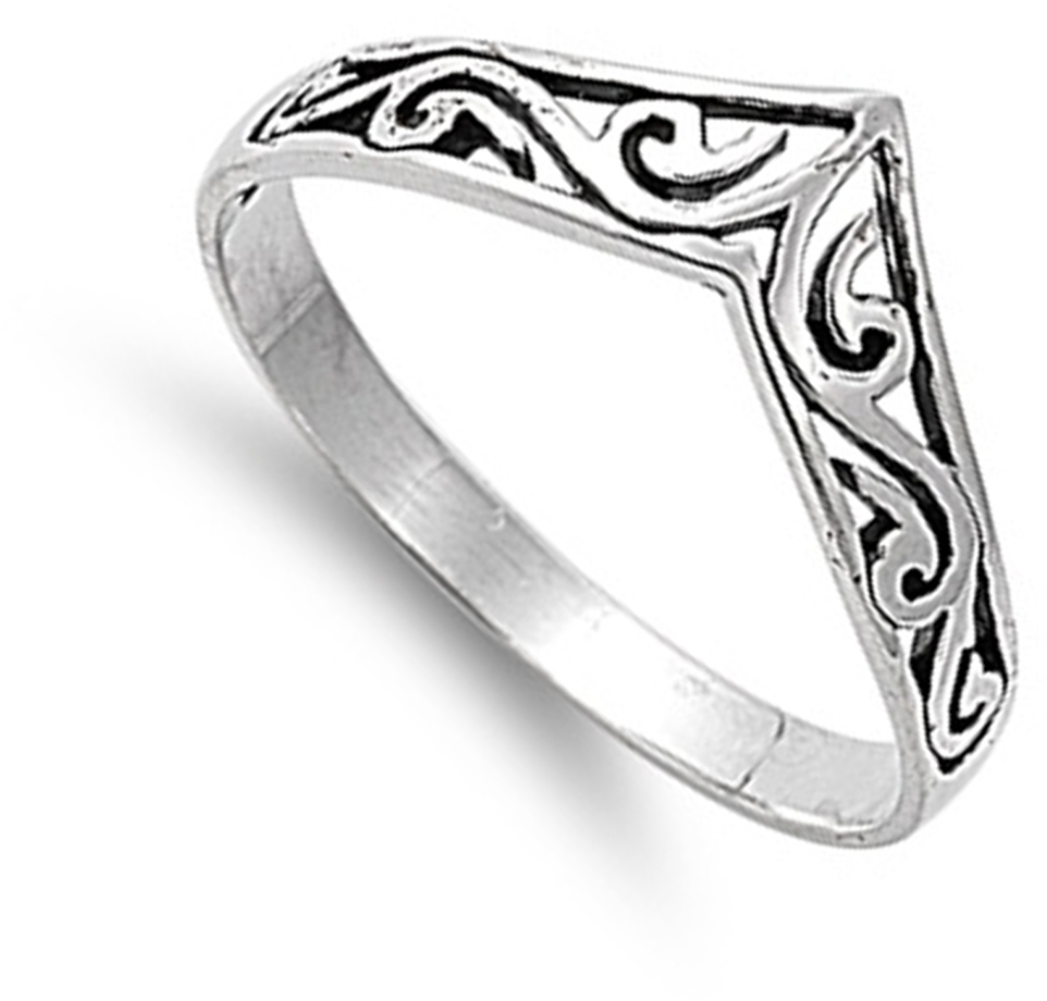Chevron Thumb Ring New .925 Sterling Silver Celtic Band | Ebay Pertaining To Most Recently Released Silver Chevron Rings (Gallery 12 of 15)