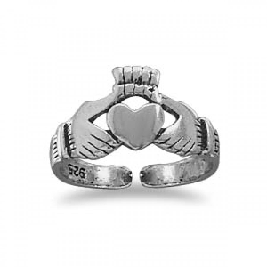 Claddagh Sterling Silver Toe Ring – Tradtional Irish Blessing Ring For Most Popular Claddagh Toe Rings (Gallery 4 of 15)