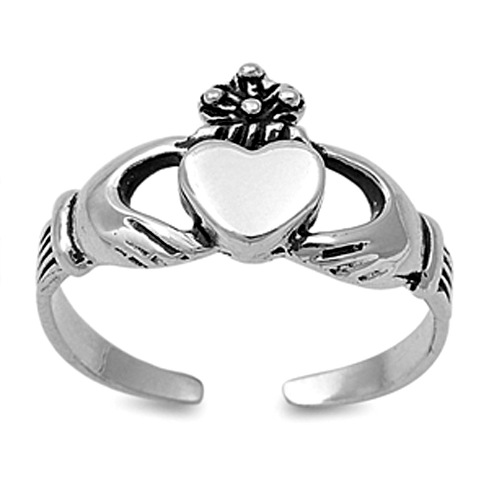 Crazy4Bling, The Internet Jewelry Store. Outstanding Quality And Pertaining To Best And Newest Claddagh Toe Rings (Gallery 13 of 15)