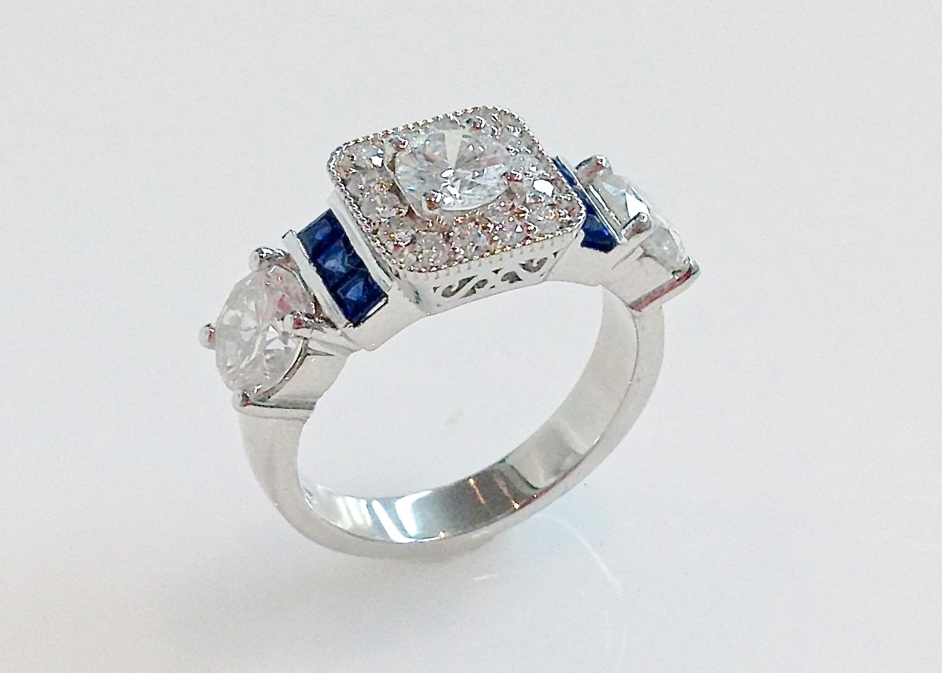 Custom Boston Engagement Rings – Keezing Kreations Pertaining To Most Recent Chevron Shaped Rings (Gallery 9 of 15)