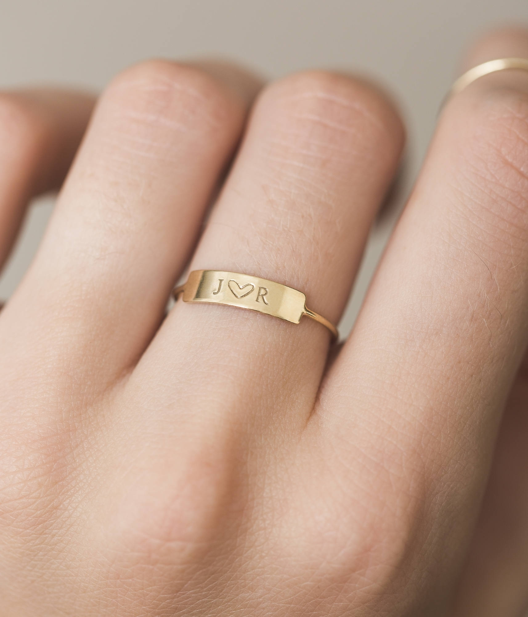 Dainty Bar Ring Personalized Ring Or Blank Stacking Ring Intended For Most Popular Personalized Toe Rings (Gallery 1 of 15)