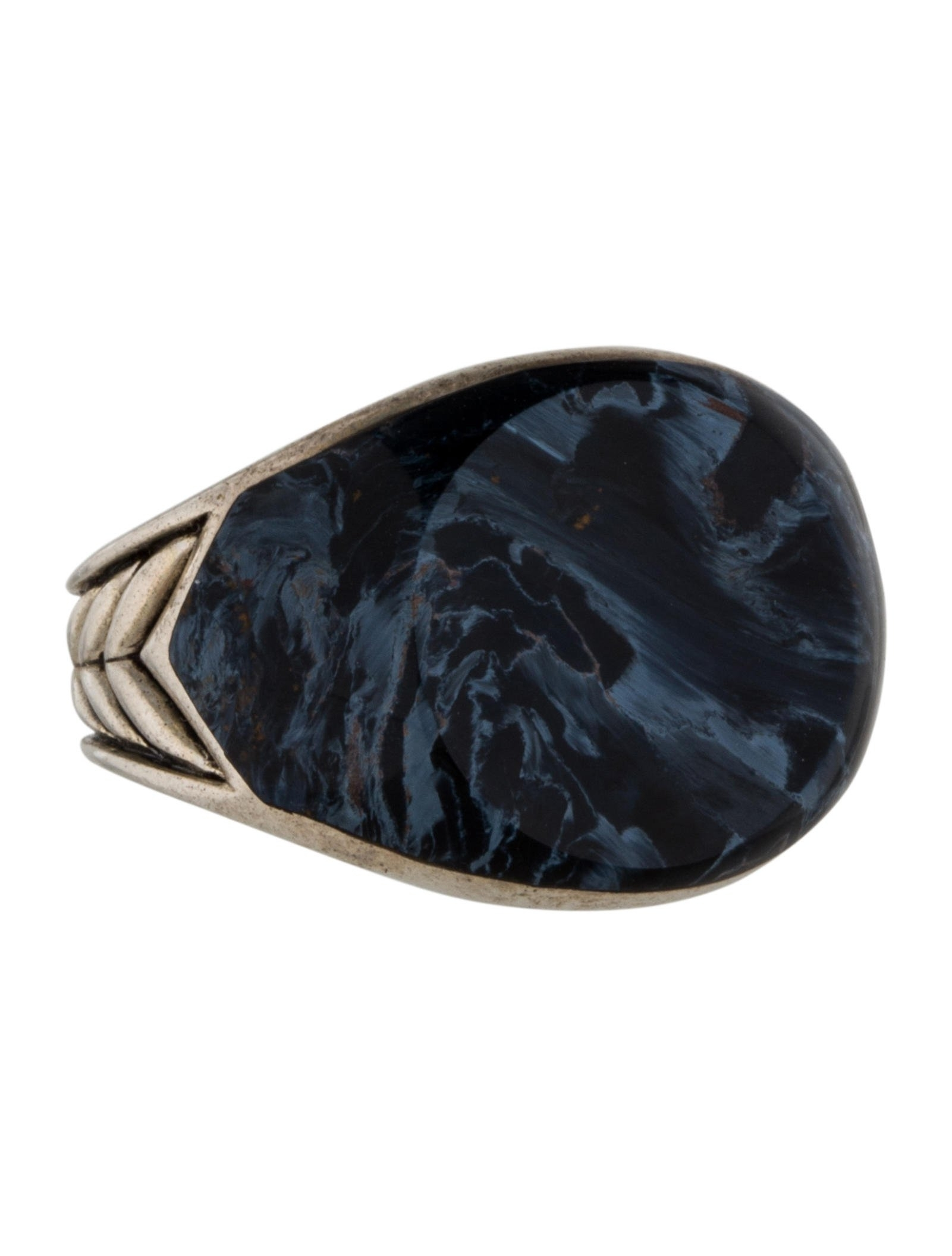 David Yurman Pietersite Chevron Signet Ring – Rings – Dvy32482 Intended For Most Current Chevron Signet Rings (Gallery 13 of 15)