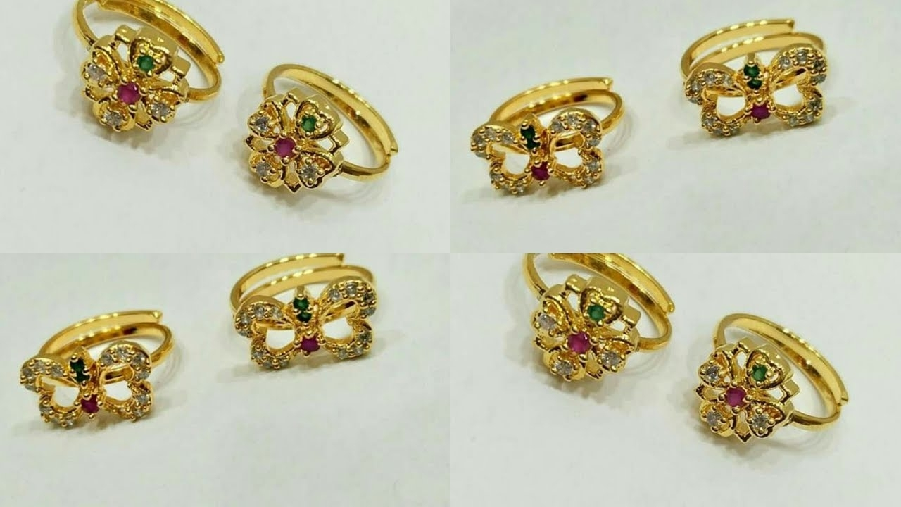 Designer One Gram Gold Toe Rings Designs – Youtube In Most Up To Date Gold Toe Rings (View 6 of 15)