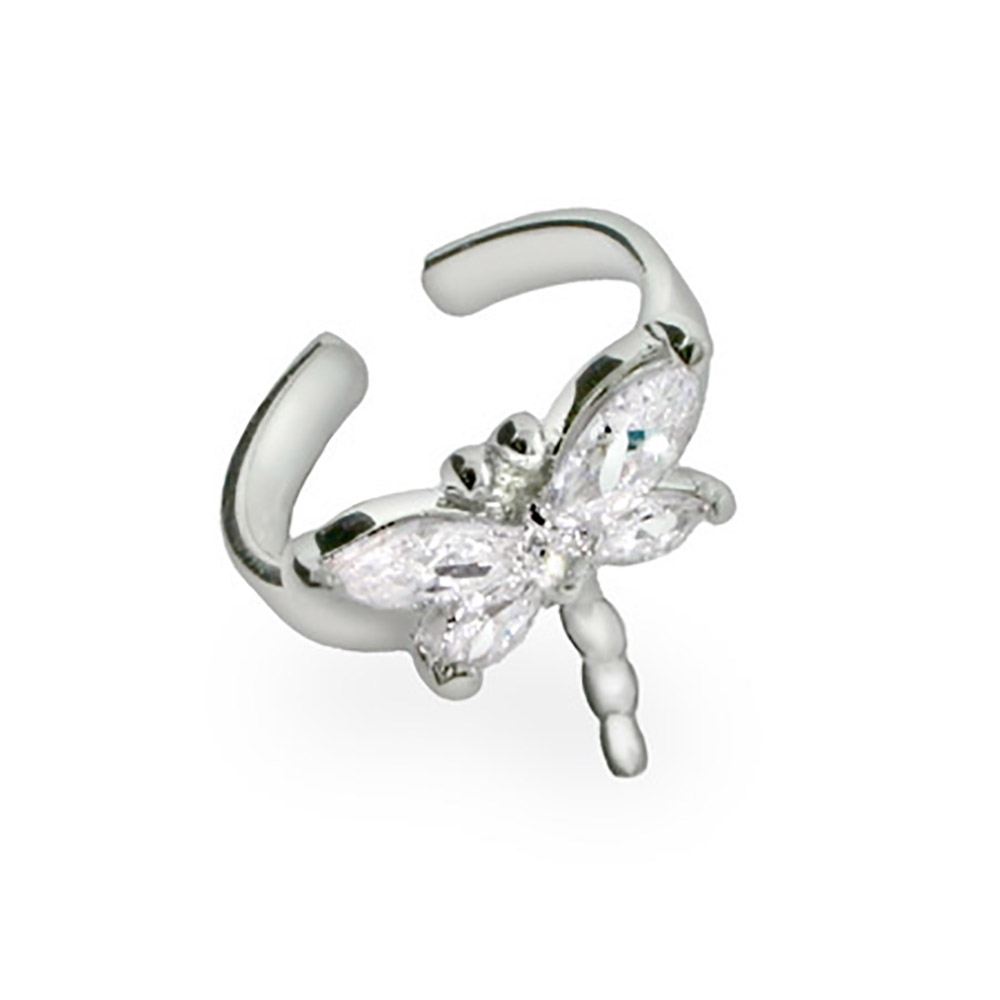 Designer Style Sterling Silver Cz Dragonfly Toe Ring With Regard To Most Recent Crystal Toe Rings (View 9 of 15)