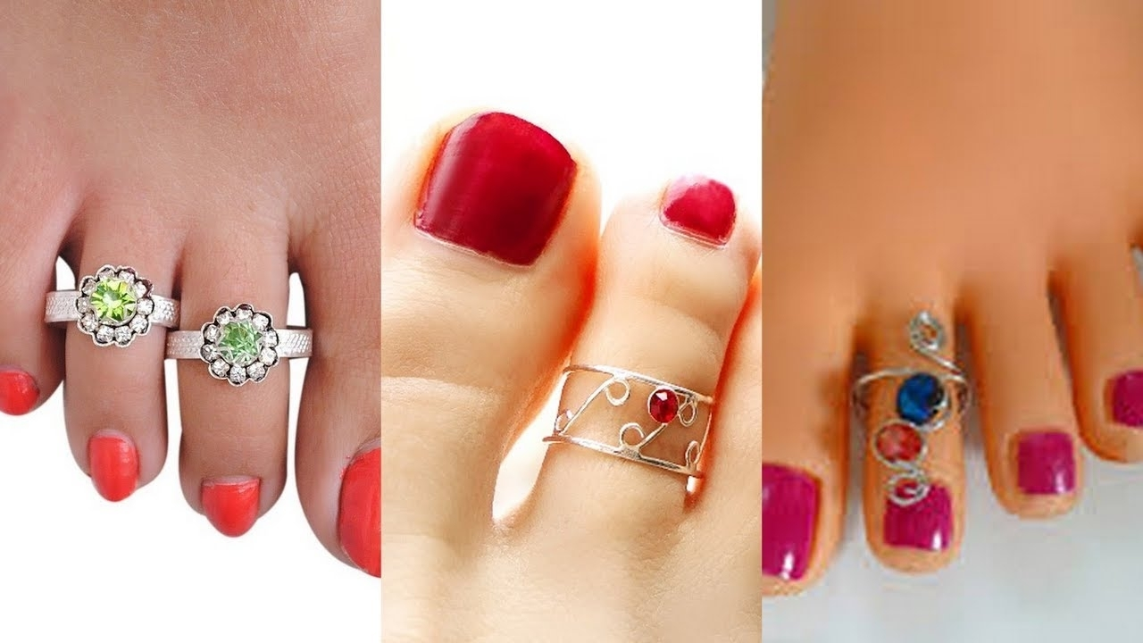 Designer Toe Rings Designs – Gold Plated, Fancy & Unique Toe Rings With Most Popular Cheap Toe Rings (Gallery 7 of 15)