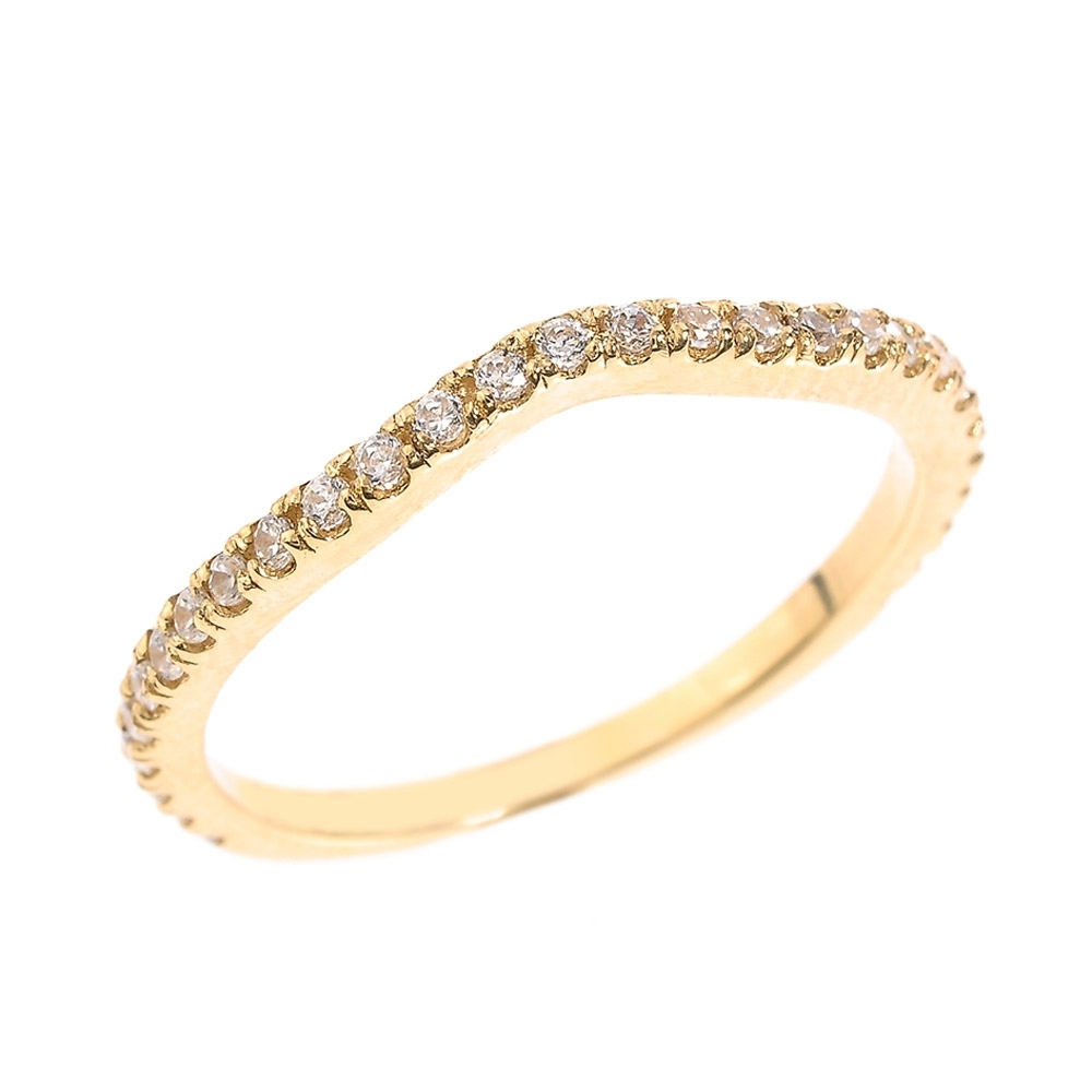 Diamond Chevron Eternity Wedding Ring In 9Ct Gold | Gold Boutique Pertaining To Most Popular Chevron Eternity Rings (View 6 of 15)