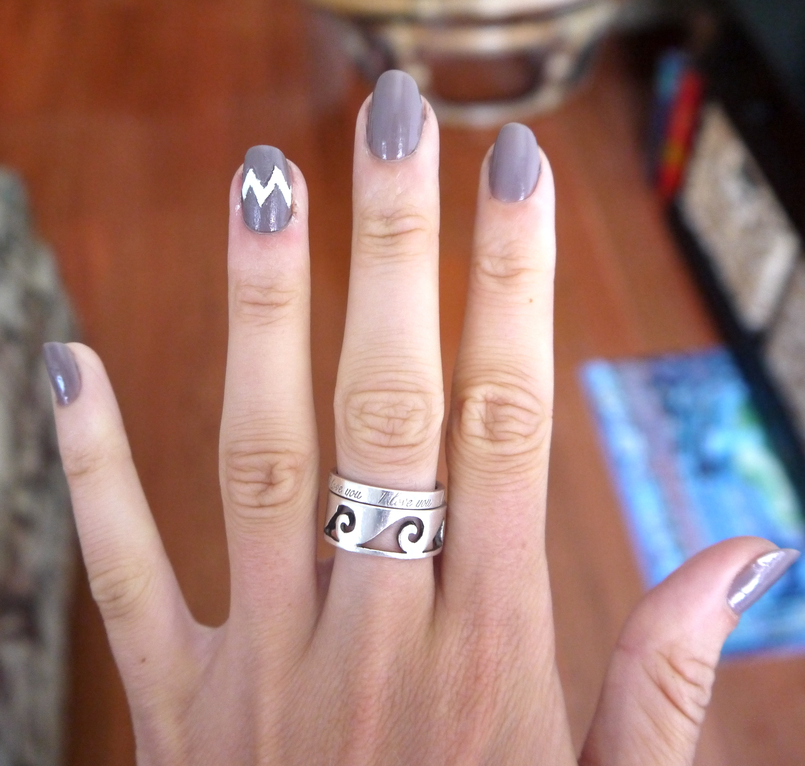 Diy Chevron Nails Tutorial | Pumps & Iron Within Most Up To Date Diy Chevron Rings (View 11 of 15)