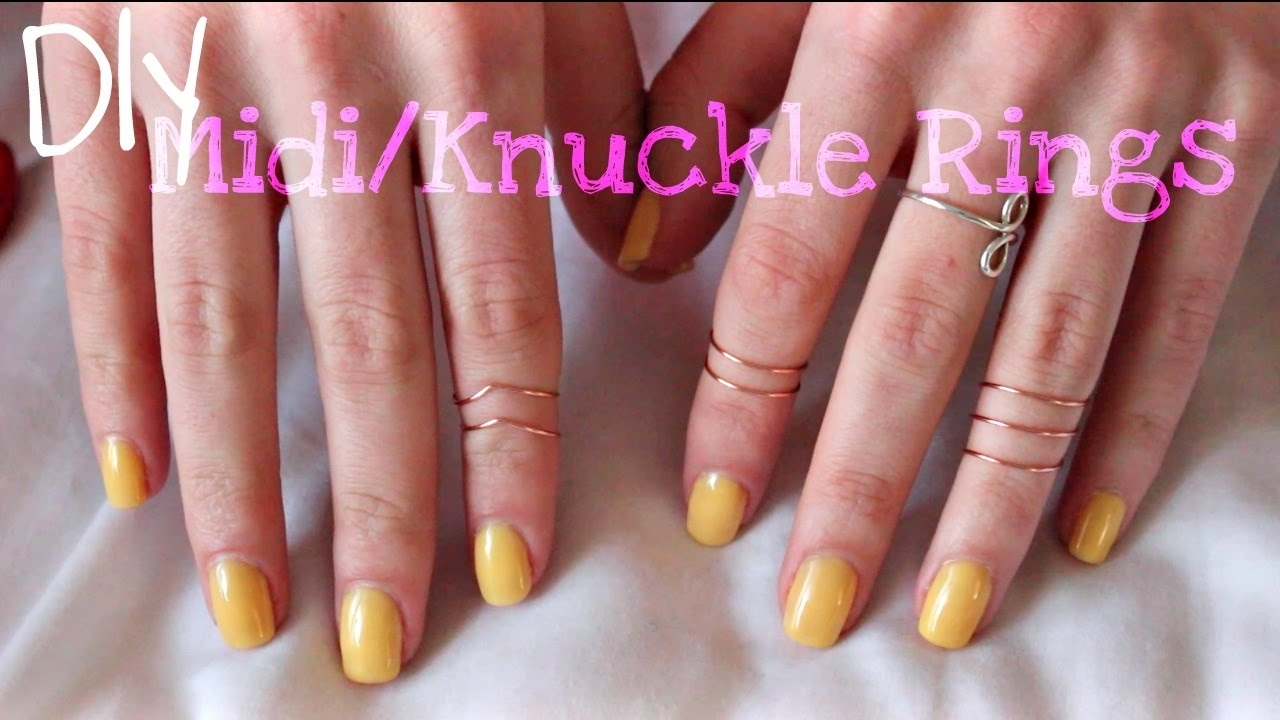 Diy | Wire Midi/knuckle Rings – Youtube Within Most Current Diy Chevron Knuckle Rings (View 6 of 15)